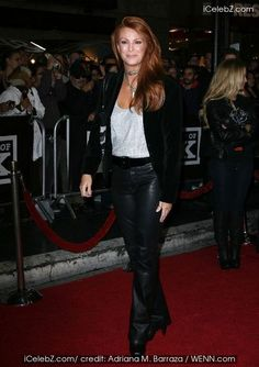 Angie Everhart, Rare Images, Celebrity Red Carpet, Celebs, Celebrities, Latest Pics, Hottest Photos, Photo Galleries, Leather Pants