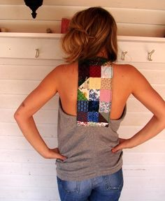 MADE TO ORDER Custom Reconstructed Tshirt by MountainGirlClothing, $55.00