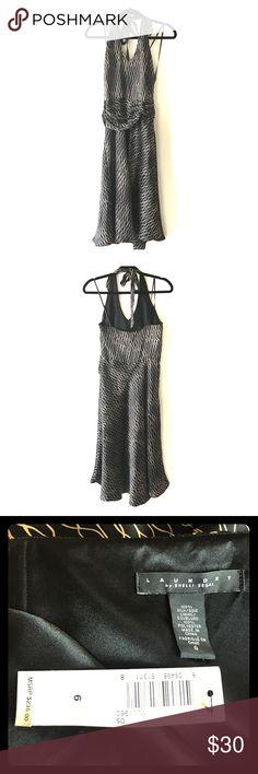 NWT LAUNDRY by SHELLI SEGAL 100% SILK HALTER DRESS NWT LAUNDRY by SHELLI SEGAL 100% SILK HALTER DRESS in BLACK/GOLD Laundry By Shelli Segal Dresses