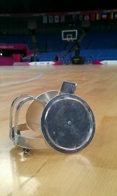 Mini Rugby chair on the London 2012 basketball court