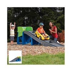 Toy-Roller-Coaster-Kids-Ride-On-Up-And-Down-Backyard-Outdoor-Racing-Car-Game