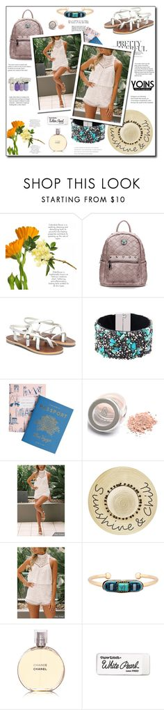 """Yoins 68"" by zulaltprk ❤ liked on Polyvore featuring Rifle Paper Co, Betsey Johnson, Chanel, yoins, yoinscollection and loveyoins"