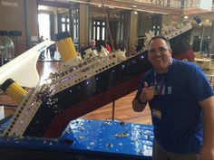 Titanic recreated in LEGOs. This thing is HUGE!