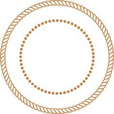 Rope Border Clip Art At Clker Com Vector Clip Art Online Royalty - Clipart Suggest Shamrock Clipart, Nautical Clipart, Round Border, Bus Art, Rope Frame, Free Clipart Images, Frame Clipart, Borders And Frames, Monogram Frame