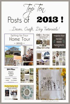 Reader's favorite DIY, Craft and Decor Posts of 2013 from Setting for Four