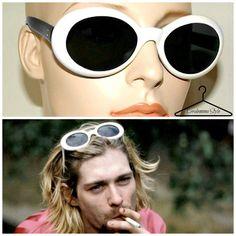 Vintage deadstock 90s Kurt Cobain white round sunglasses  #kurtcobain #kurtcobainsunglasses #90sgrunge