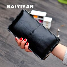 Cheap Wallets, Buy Directly from China Suppliers:Women famous brand Oil wax leather zipper clutch wallet female purse lady Multi-function phone bag Phone Wallet, Clutch Wallet, Pouch Bag, Zipper Pouch, Lady, Famous Brands, Luggage Bags, Vintage Ladies, Coin Purse