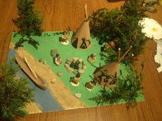 Native American diorama.