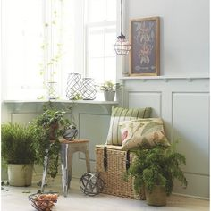 Threshold Woven Willow Basket.... look at this simple, calming set up of pretty plants