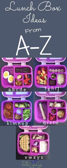 Alphabet Lunchbox Ideas – Holley Grainger, MS, RD Alphabet Lunchbox Ideas – Help your children learn their ABCs with these alphabet lunchbox ideas that feature yummy foods from A to Z that encourage both learning and fun. Bento Box Lunch For Kids, Healthy Lunches For Kids, Toddler Lunches, Lunch Snacks, Kids Meals, Healthy Foods To Eat, Toddler Lunchbox Ideas, Kid Lunches, Lunch Boxes