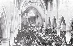 The decorated interior of St Patrick's Cathedral in 1929. This photograph as taken during the enthronement of Bishop Byrne.