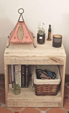 meuble table de nuit en palette