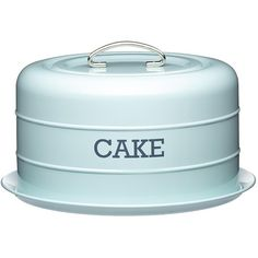 Living Nostalgia Vintage Domed Cake Tin ($29) ❤ liked on Polyvore featuring home, kitchen & dining, food storage containers, vintage breadbox, vintage cake tin, tea box, cake tin and sugar box