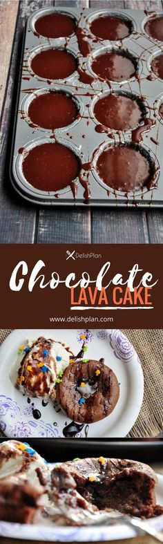 Gooey inside and firm outside, this amazing restaurant-trendy chocolate lava cake only requires 5 ingredients and 30 minutes to make at home. It's to DIE FOR! #chocolate #lavacake