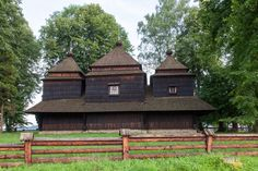Smolnik. Drewniana cerkiew greckokatolicka z 1791 roku. /  Smolnik. Wooden Greek…