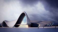 Heydar Aliyev - Architectural work based on Zaha Hadid´s building