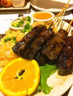 Thai BBQ - Beef satay with fried rice
