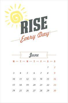 Make Everyday Special   Free Calendar 2013 Printable Files
