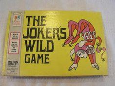 Vintage 1973 Milton Bradley The Joker's Wild Board Game Family Children's USA