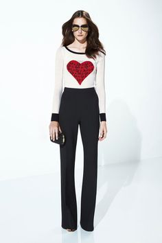 Diane von Furstenberg | Resort 2015 Collection | Such a cute sweater!