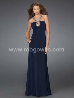 Classy Evening Dresses | New hot sale elegant dark navy spaghetti straps tube top evening dress