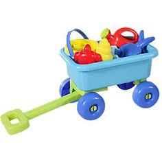 Kinder lieben es, im Sand zu spielen und alles mit sich rumzutragen. Darum unser Spielzeug-Tipp: Handwagen mit Spielzeug verschenken - wie diesen hier!
