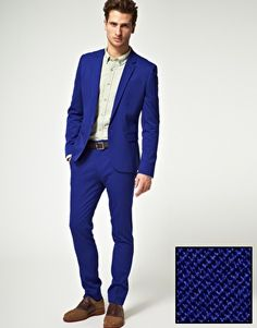 ASOS, Skinny fit suits and Suits on Pinterest