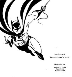 The Batman: The Animated Series Writer's Guide is Totally Awesome - ComicsAlliance | Comic book culture, news, humor, commentary, and reviews