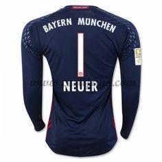 Bayern Munich Fotbalové Dresy 2016-17 Neuer 1 Brankářské Domáci Dres Dlouhým Rukávem