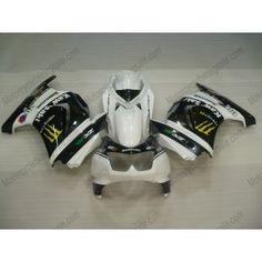 Kawasaki NINJA EX250 2007-2009 Injection ABS Fairing - Monster - White/Black | $659.00
