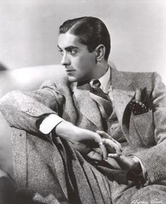 Photo of Tyrone Power for fans of Tyrone Power 31468803 Old Hollywood Movies, Golden Age Of Hollywood, Vintage Hollywood, Hollywood Stars, Hollywood Men, Hollywood Glamour, Classic Hollywood, Tyrone Power, 1940s Mens Fashion