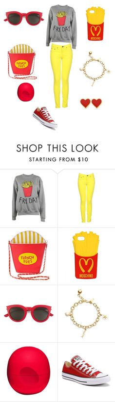 """Fry Fit"" by oliviaonfleek on Polyvore featuring Adolescent Clothing, rag & bone, 3AM Imports, Moschino, Yves Saint Laurent, Kate Spade, Eos and Converse"