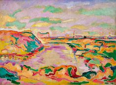 Georges Braque, Landscape near Antwerp, 1906, oil on canvasSolomon R. Guggenheim Museum, NY