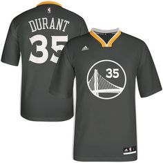 874c765a9 Men s Golden State Warriors Kevin Durant adidas Charcoal Replica Basketball  Alternate Jersey