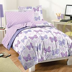 Dream Factory Butterfly Lane Bed in a Bag Bedding Set