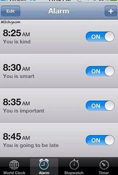 Haha this alarm wins.