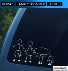 Dora's Family Bumper Sticker