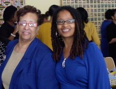 Mother and daughter. Sorors. Friends. -- Theresa Leeke and Ananda Leeke at Eta Beta Chapter Charter Day on April 7, 2012, on the campus of University of Maryland, College Park  Members of Sigma Gamma Rho Sorority, Inc.