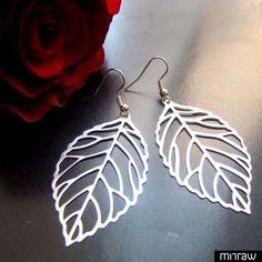 Amazing leaf earrings