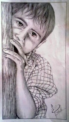 Innocence - Sketching by Rakesh Kanwar in my artworks at touchtalent 18773