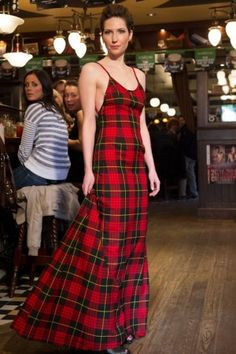 Dress by Veronic MacIsaac - Cape Breton Fashion Designer Tartan Fabric, Tartan Dress, Tartan Plaid, Dress With Boots, Dress Up, Rock Chic, Rock Style, My Style, Plaid Wedding