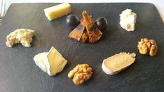 Cheese plate from the Maiensäss (fresh, hard, soft, blue) @ Restaurant Guarda Val
