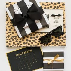 Black, White, Gold... and Leopard  How To Gift Wrap Like A Fashion Girl | The Zoe Report