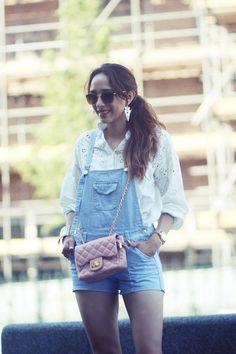 Short Denim Dungaree by Preppy Fashionist