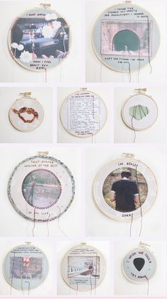 """i don't really miss you"" by  lindsay bottos, 2012    This series is a collection of thoughts and momentos sewn onto the clothes I wore the most that summer. One of my most therapeutic projects I've worked on so far, for sure."