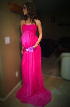Hot Pink Maternity dress :)  https://www.etsy.com/listing/230900669/pink-dream-matrenaty-grown-with