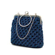 Magenta Arty Workshop - δωρεάν σεμινάρια πλεξίματος, νήματα Crochet Clutch, Crochet Purses, Knit Crochet, Crochet Bags, Knitting Patterns, Crochet Patterns, Frame Purse, Diy Jewelry Inspiration, Macrame Bag