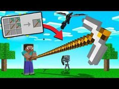 How To Make LONGEST PICKAXE In MINECRAFT !! | Minecraft Mods