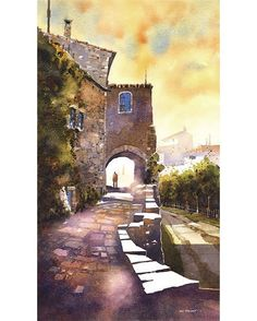 The tourist- Oppède Le Vieux, Provence by Iain Stewart  #sketchcollector  http://iainstew.fineartstudioonline.com/workszoom/1647260