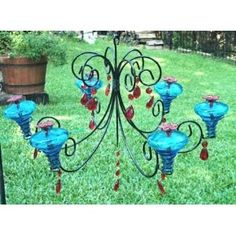 chandelier humming bird feeder